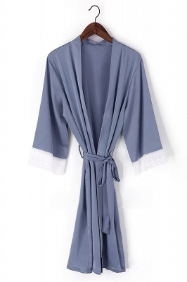 Duke | Non-personalized Silk Satin Floral bridesmaid robes gowns bride bath robe wedding kimono robes_3