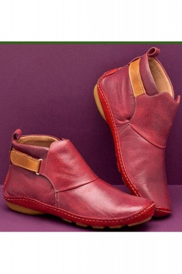 Casual Comfy Daily Wear Adjustable Soft Leather Boots on Sale_1