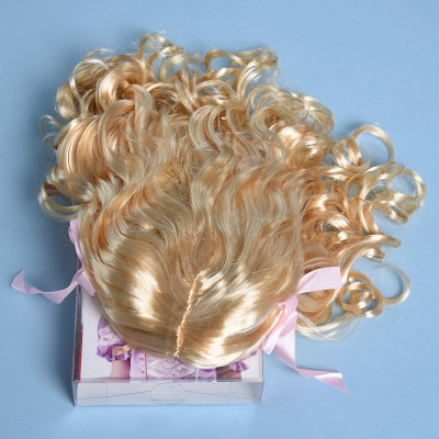 Fashion Blonde Movie Girls Curly Wig for Kids_5