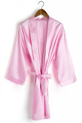Drover | Personalized Rhinestone Silk Satin Bridal Wedding Bridesmaid Kimono Dressing Gown Robe_7