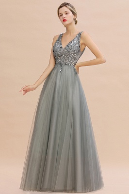 Abina | Sexy V-neck Sparkly Beaded Low Back Prom Dress with Gemstones_6