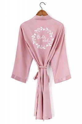 Dudley | Personalized New Women Silk Satin Bathrobe Bridal Wedding Bride Bridesmaid Kimono Gown Robes