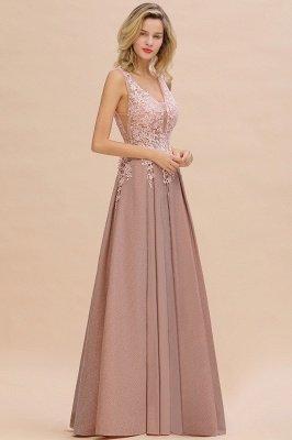 Rebacca | A-Line V-neck Floor-Length Tulle Sequined Prom Dresses_18
