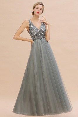 Abina | Robe de bal sexy avec col en V et perles fantaisie avec dos et pierres précieuses_12