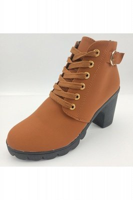 Womens Casual Burgundy, Brown, Black, Green Ankle Boots with Low Mid Block Heel