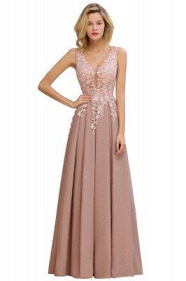 Rebacca | A-Line V-neck Floor-Length Tulle Sequined Prom Dresses_21