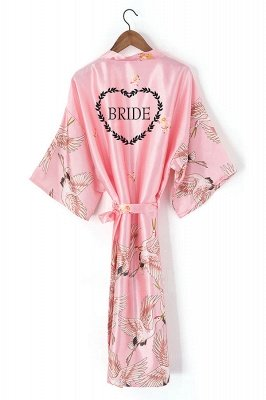 Earl | Personalized Personalised Women Satin Silk Wedding Bride Robe Bridesmaid Robes Gown