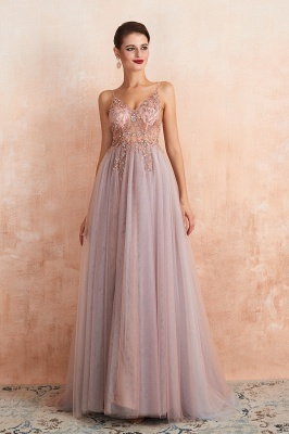 Charlotte | New Arrival Dusty Blue, Pink Spaghetti Strap Prom Dress with Sexy High Split, Cheap Evening Gowns Online_11