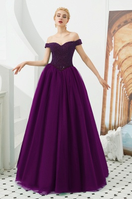 Harry | Elegant Emerald green Off-the-shoulder Ball Gown Dress for Prom/Evening_1