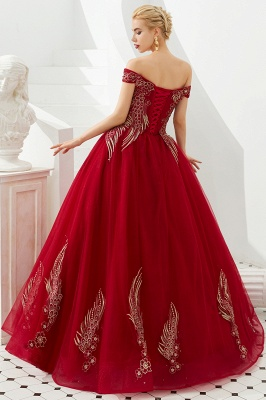 Henry   Elegant Off-the-shoulder Princess Red/Mint Prom Dress with Wing Emboirdery_5