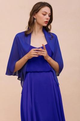 الأزرق الملكي الشيفون المناسبات الخاصة يلتف_8
