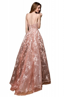 Ardolph | Gorgeous Dusty Pink Spaghetti Strap A-line Lace Prom Dress_12