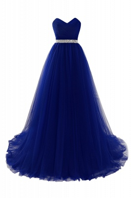 ANGELINA | A-line Sweetheart Burgundy Tulle Prom Dress With Beading_4
