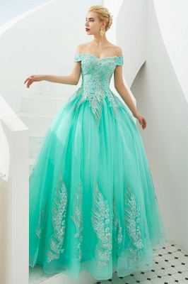 Henry   Elegant Off-the-shoulder Princess Red/Mint Prom Dress with Wing Emboirdery_11