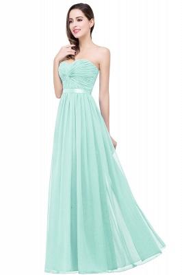 Elegantes A-Linie Chiffon Brautjungfer Kleid | Schulterfrei Brautjungfernkleider Bodenlang_4