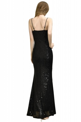 Ardell | Sexy Black Emerald Sequined High Slit Prom Dress Online_19