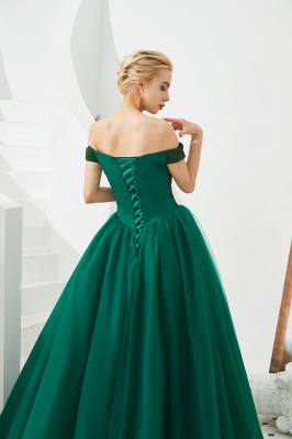 Harry | Elegant Emerald green Off-the-shoulder Ball Gown Dress for Prom/Evening_11
