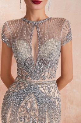 Chloe | Luxury Dark Navy Cap Sleeve Key hole Sparkle Prom Dress Online, Beautiful Champange Dresses for Evening Party_9