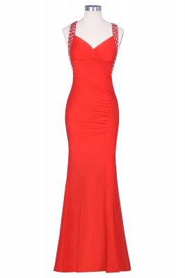Ceci | Criss-cross Back Mermaid Prom Dress with Beaded Straps_5