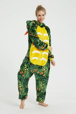 Новый Зеленый Трицератопс Осень Зима Теплая Фланель Домашняя Одежда Плюс Размер kigurumi Onesie Пижамы для Женщин Пижама Ночная Рубашка Пижамы Животных_11