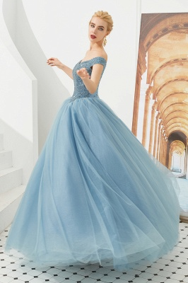 Harry | Elegant Emerald green Off-the-shoulder Ball Gown Dress for Prom/Evening_16