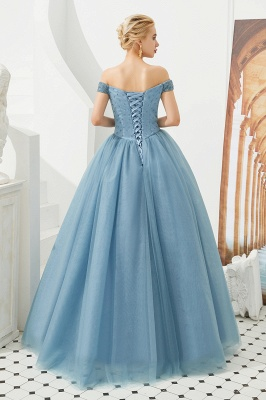 Harry | Elegant Emerald green Off-the-shoulder Ball Gown Dress for Prom/Evening_25
