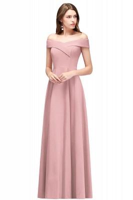MAISIE | A-line Off-the-shoulder Floor Length Burgundy Bridesmaid Dresses_1