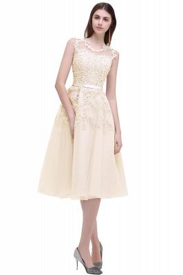 EMORY   A-Line Crew Tea Length Lace Appliques Short Prom Dresses_12