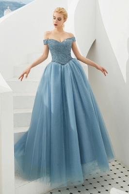 Harry | Elegant Emerald green Off-the-shoulder Ball Gown Dress for Prom/Evening_17