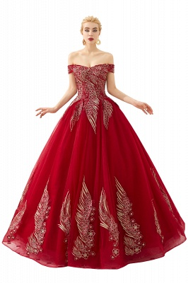 Henry   Elegant Off-the-shoulder Princess Red/Mint Prom Dress with Wing Emboirdery_1
