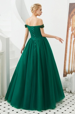 Harry | Elegant Emerald green Off-the-shoulder Ball Gown Dress for Prom/Evening_10