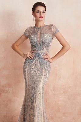 Chloe | Luxury Dark Navy Cap Sleeve Key hole Sparkle Prom Dress Online, Beautiful Champange Dresses for Evening Party_17