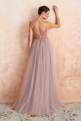 Charlotte | New Arrival Dusty Blue, Pink Spaghetti Strap Prom Dress with Sexy High Split, Cheap Evening Gowns Online_19
