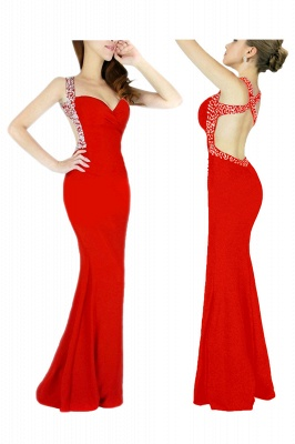 Ceci | Criss-cross Back Mermaid Prom Dress with Beaded Straps_1