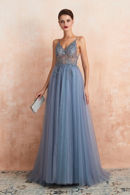 Charlotte | New Arrival Dusty Blue, Pink Spaghetti Strap Prom Dress with Sexy High Split, Cheap Evening Gowns Online_18