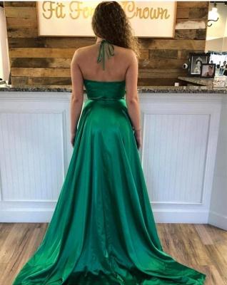 Cheap Spaghetti Strap Shiny Royal Blue Prom Dress with High Split   Sexy V-neck Princess Evening dress online_7