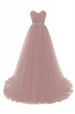 ANGELINA | A-line Sweetheart Burgundy Tulle Prom Dress With Beading_1
