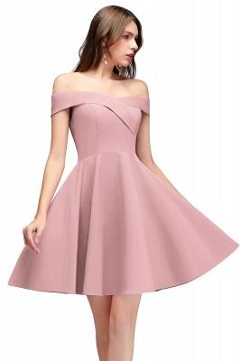 MAMIE | Una línea de hombro corto borgoña vestidos de regreso al hogar_1