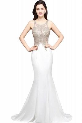 AVERIE   Mermaid Scoop en mousseline de soie élégante robe de bal avec des appliques_1