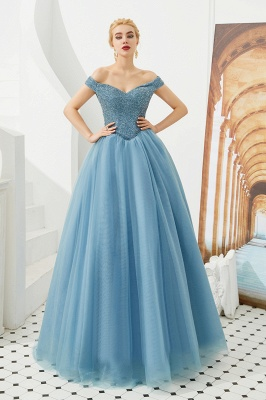 Harry | Elegant Emerald green Off-the-shoulder Ball Gown Dress for Prom/Evening_13