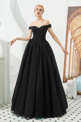 Harry | Elegant Emerald green Off-the-shoulder Ball Gown Dress for Prom/Evening_2