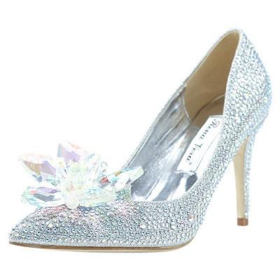 Womens Crystal Covered Bridal Wedding heels