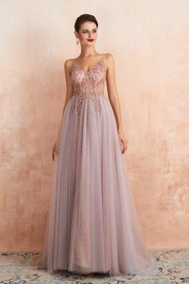 Charlotte | New Arrival Dusty Blue, Pink Spaghetti Strap Prom Dress with Sexy High Split, Evening Gowns Online_11