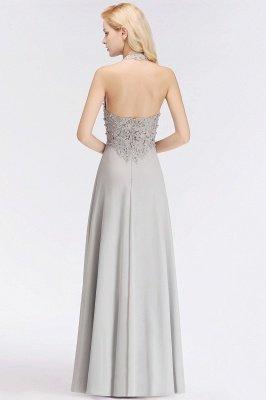 Sexy Halter Backless, Burgundy, Navy, Pink, Silver Sleeveless Princess Formal Dress_7