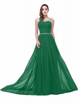 AIMEE | A-Linie Gericht Zug Chiffon Party Kleid mit Perlenstickerei_6