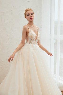 Vestido de novia marfil con tirantes finos boho | Vestidos de novia románticos en venta_17