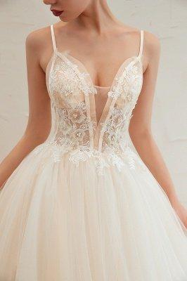 Vestido de novia marfil con tirantes finos boho | Vestidos de novia románticos en venta_18