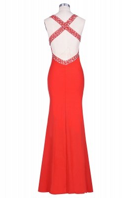Ceci | Criss-cross Back Mermaid Prom Dress with Beaded Straps_6