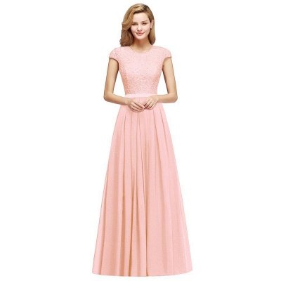Adah | Günstige Dark Navy Rundhals Cap Sleeve Lace Formal Dress, Pink, Dunkelgrün_10