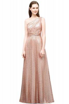 JOURNEE   A-line One-shoulder Sleeveless Floor Length Sequins Prom Dresses_1